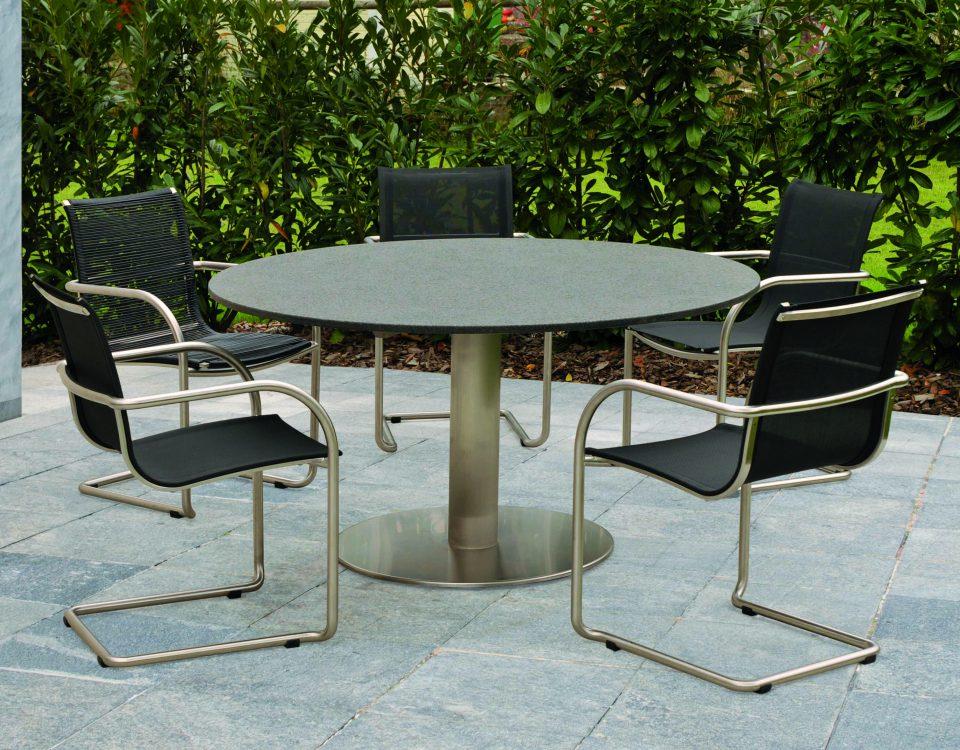 Soleil Tisch mit Stuhl Ronda sit mobilia