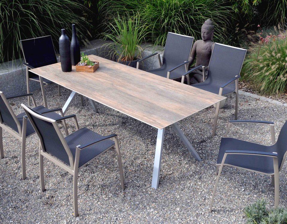 Spidi Keramik Mooreiche Stahl alu Argentina I Taupe sit mobilia