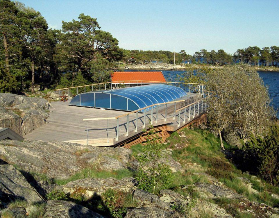 Elegant 66 SWE poolüberdachung aqua-saar