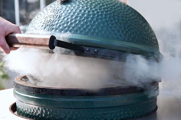 Big Green Egg rauch aqua-saar