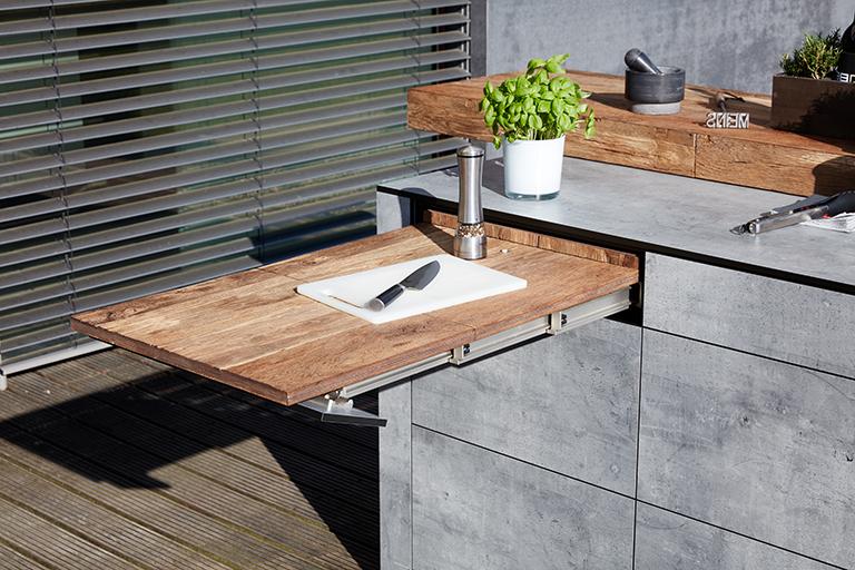 bbqtion outdoorküche insellösung arbeitsfläche aqua-saar