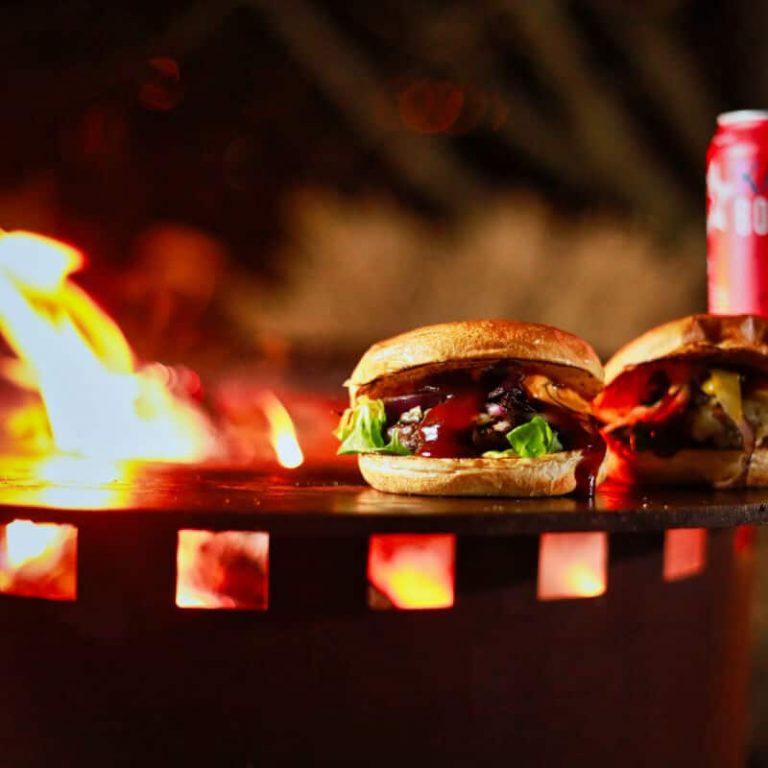 Grillfass Aus Corten Burger Grillen