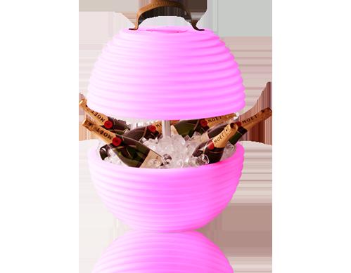 Nikki Amsterdam The Bowl Multicolor Led Light Wine Cooler Wireless Bluetooth Speaker